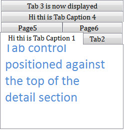 Multi Rows in Tab Control