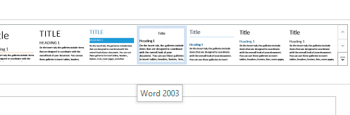word 2003 style set