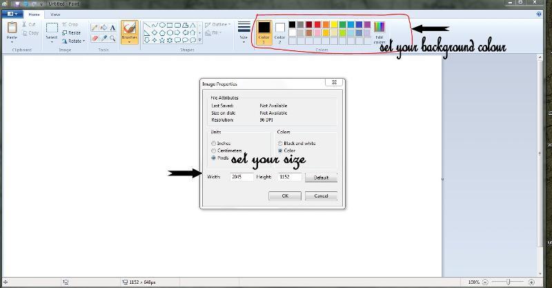 change pix MS Paint