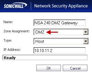 DMZ Gateway on the NSA 2400