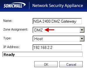 DMZ Gateway on the NSA 220