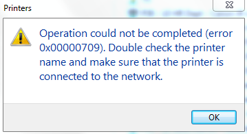 Print Connection Error