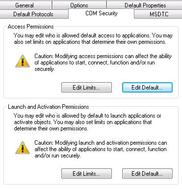 COM Settings - My Computer