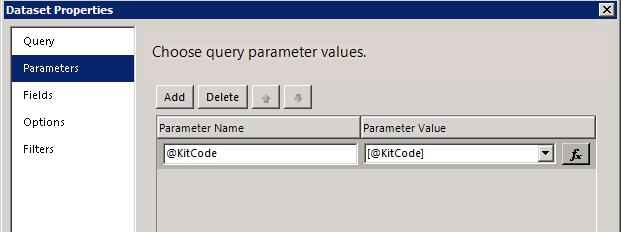 SSRS Parameter