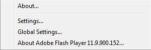 context menu on flash e-book