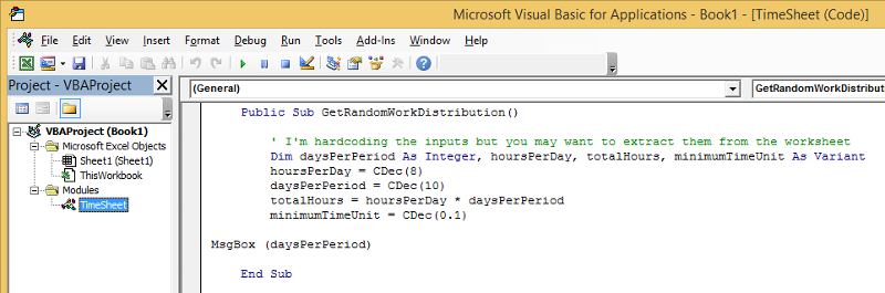 Declaration of Decimals in VBA