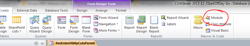 Step 1: create a module