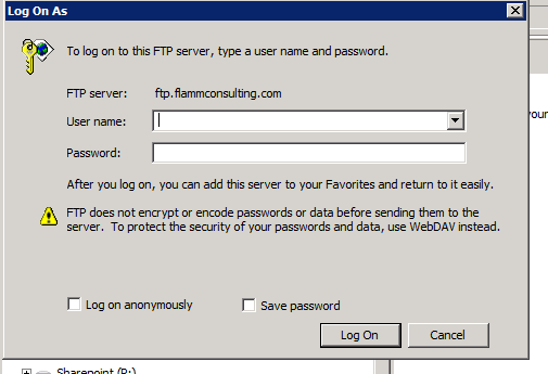 Brings up the login dialog to enter your credentials