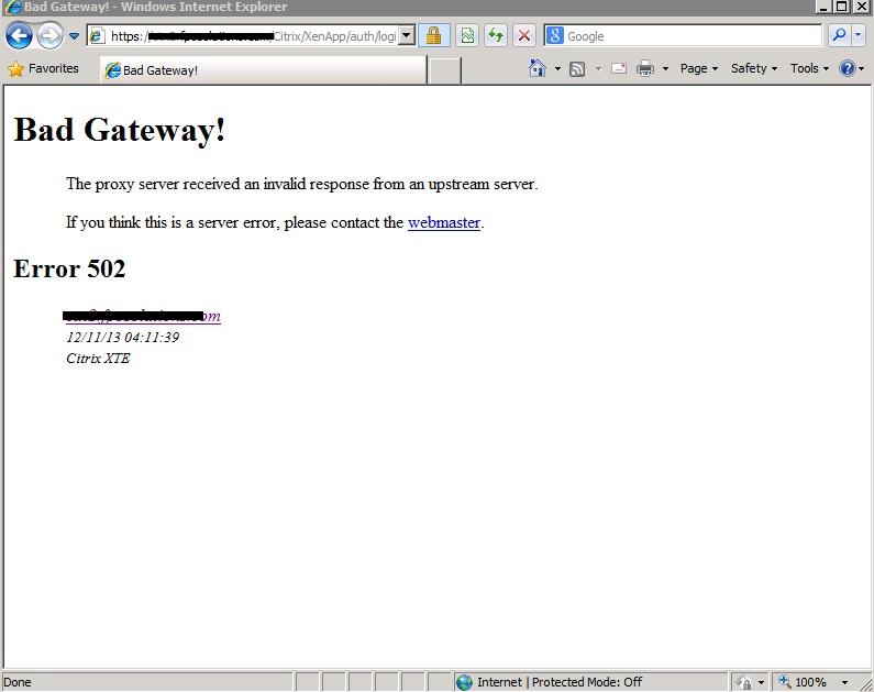 Bad Gateway