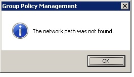 When I try to ADD a new Group Policy