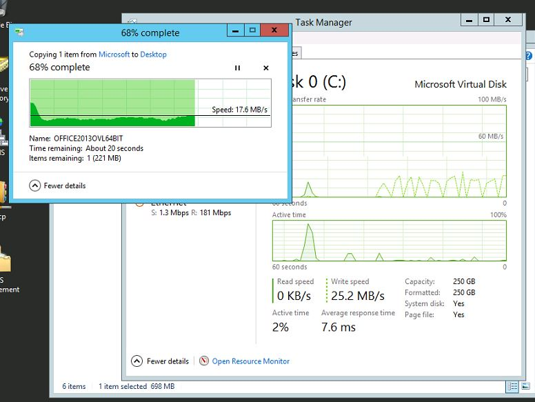 Office File Transfer to VM Desktop