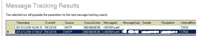 tracking log