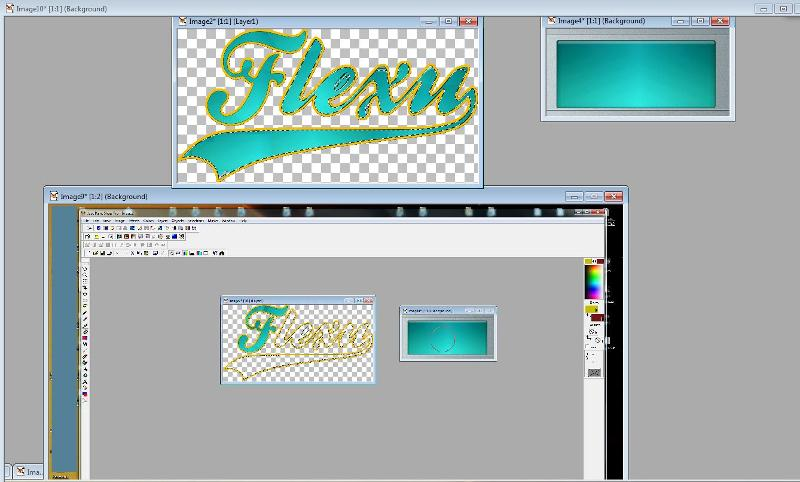 adding glow to letters
