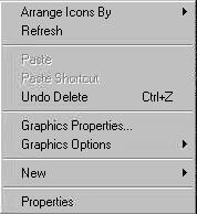 XP desktop context menu