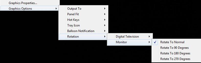 graphics options rotation w7