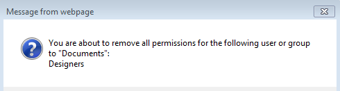 Remove Group in Permissions