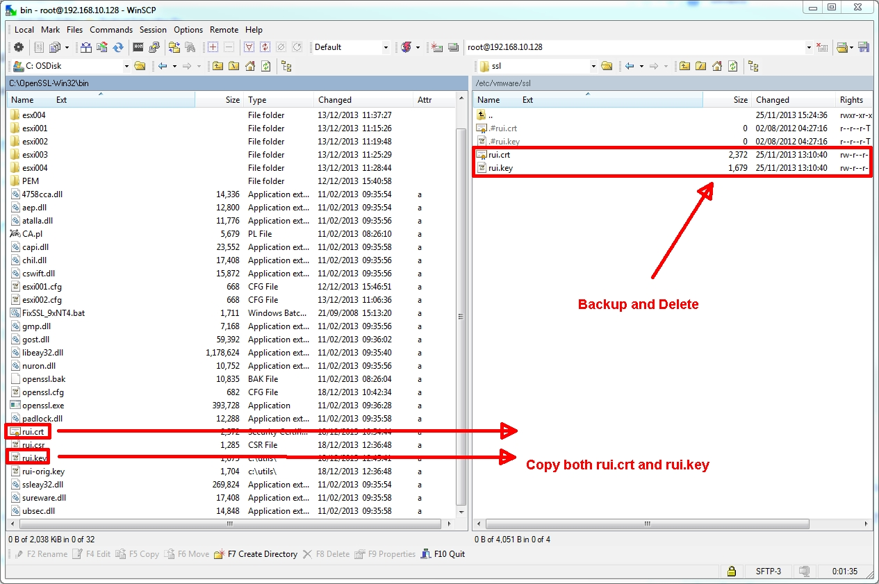 HOW TO: Configure and Replace the SSL Certificate on a VMware
