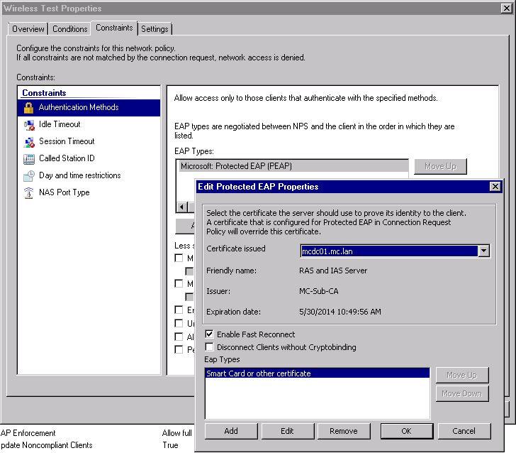 NPS Configuration