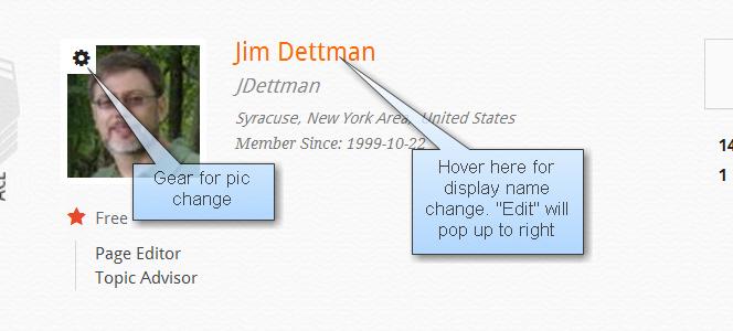 screen shot profile pic change and display name change
