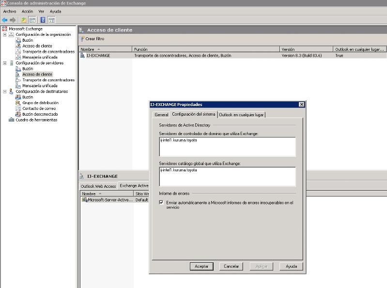 Configuration Server - Access Client - Funtion Transport, access client and mailbox properties