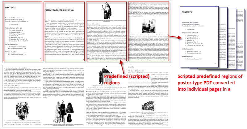 Separate a PDF poster into individual page PDF