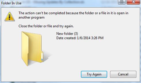 New Folder Error