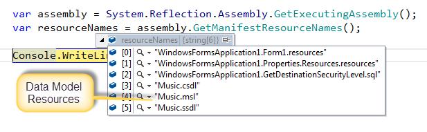 Debugging Output for Assembly.GetManifestResourceNames