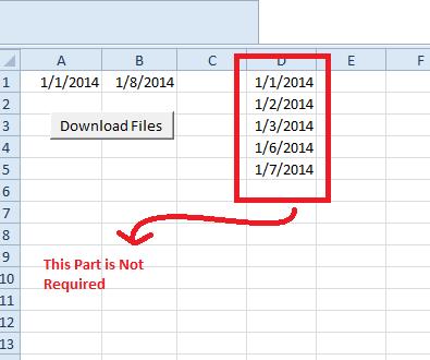 Dates In Main Sheet