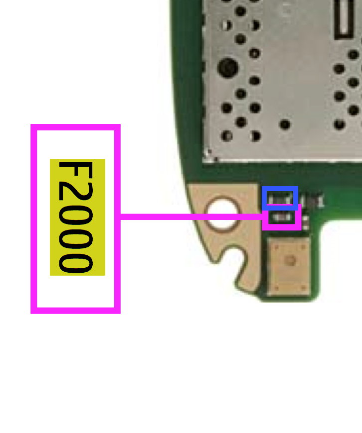 Component locations on the E72 motherboard