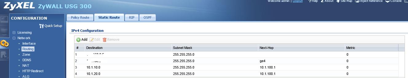 HP Procurve 5406zl Default Gateway / Default Routing