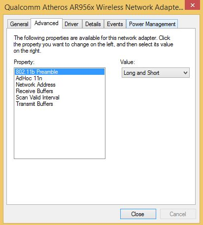 How to change bandwith settings on wireless network adapter?