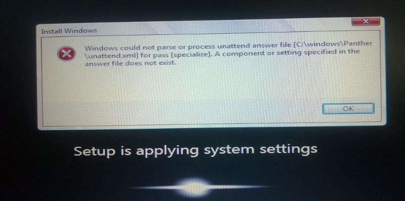 Sysprep Error