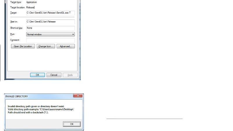 Invalid Directory Error
