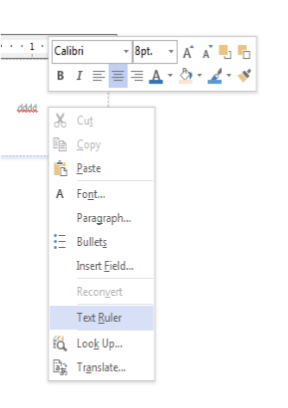 right-click text ruler toggle