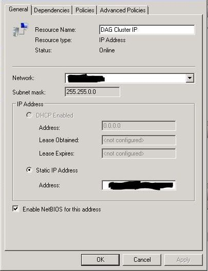 FCM Cluster IP Setting