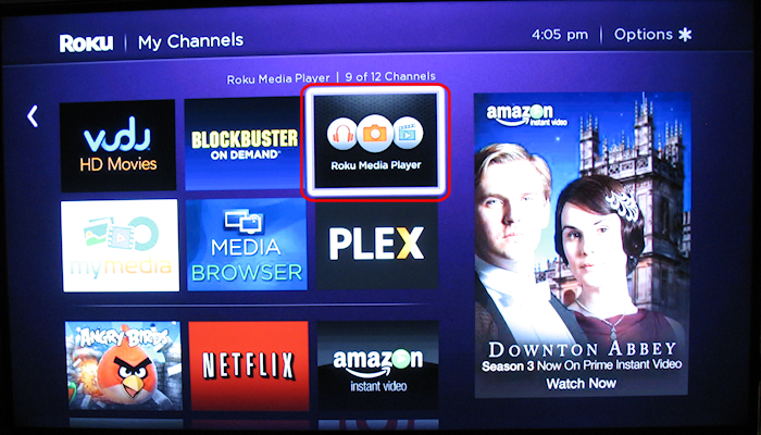 Roku XS - Roku Media Player app (click for larger)