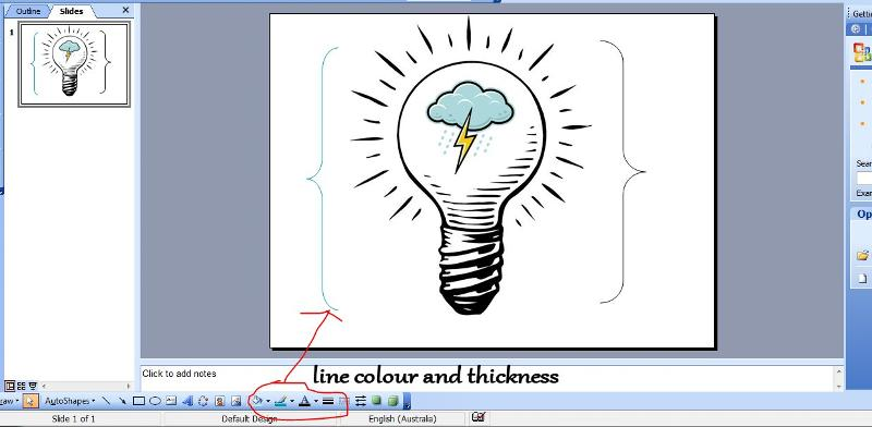 line colour and thickness