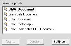 Scanning Profiles fresh install PP14-Std