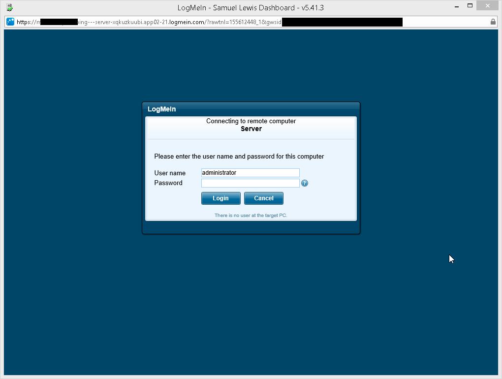 Logmein pro desktop shortcut embed credentials