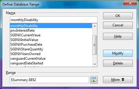 Data Ranges