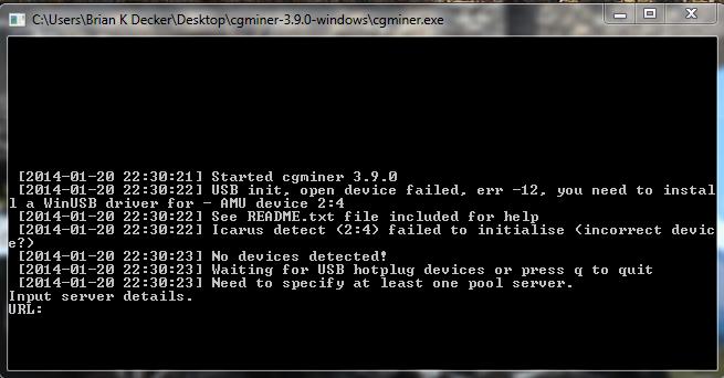 CG Miner screenshot