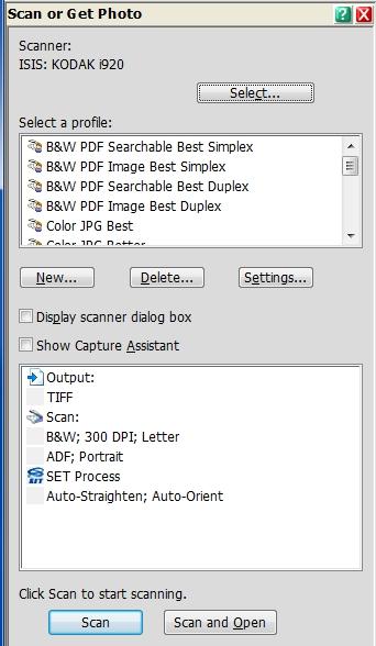 PP14 Scan or Get Photo pane before reordering