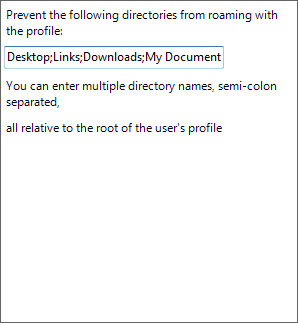 Where your exclusions for Roaming Profile folders are entered.