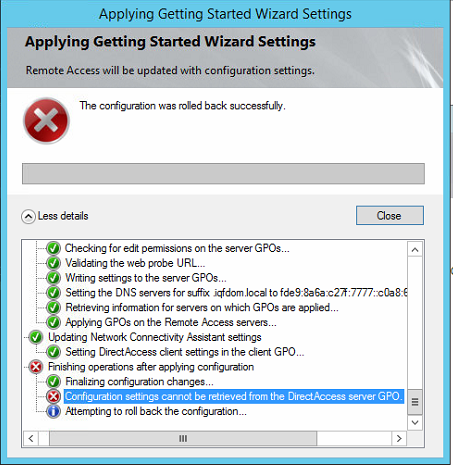 Direct access error