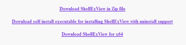 ShellExView download choices