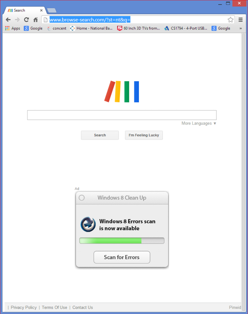 screenshot of google chrome ad.