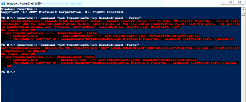 Powershell access denied