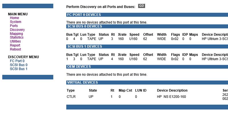 discovery menu on e1200