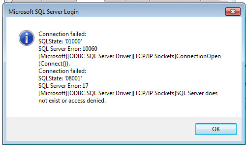 SOLUTION] Create ODBC connection to SQL 2012 Express