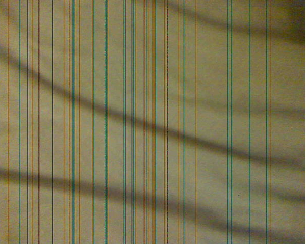 Strange lines in image